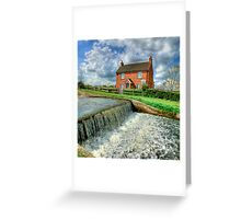 Papercourt Lock Cottage  -  HDR Greeting Card
