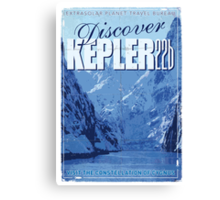 Exoplanet Travel Poster KEPLER 22b Canvas Print