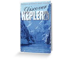 Exoplanet Travel Poster KEPLER 22b Greeting Card