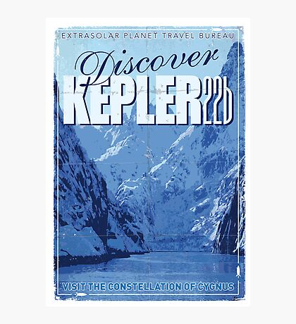 Exoplanet Travel Poster KEPLER 22b Photographic Print