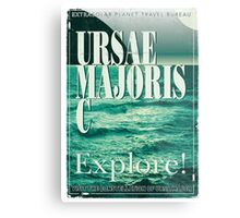 Exoplanet Travel Poster Ursae Majoris Metal Print