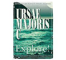 Exoplanet Travel Poster Ursae Majoris Photographic Print
