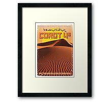 Exoplanet Travel Poster COROT 4 Framed Print