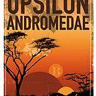 Exoplanet Travel Poster UpsilonAndromedae 4 by Chungkong
