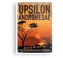 Exoplanet Travel Poster UpsilonAndromedae 4 Metal Print