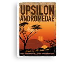 Exoplanet Travel Poster UpsilonAndromedae 4 Canvas Print