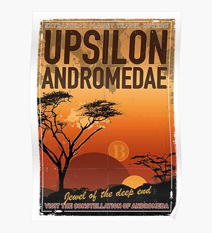 Exoplanet Travel Poster UpsilonAndromedae 4 Poster