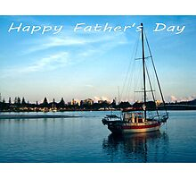 "Boat at Forster NSW Australia - ""Happy Father's Day"" Card  Photographic Print"