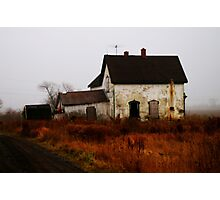 Abandoned .............. a home. Photographic Print