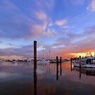 Sunrise at Scarborough Boat Harbour. Brisbane, Queensland, Australia. by Ralph de Zilva