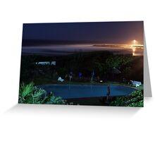 Sea View.... at night. Greeting Card