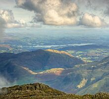 Bowfell Summit..Views East by Jamie  Green