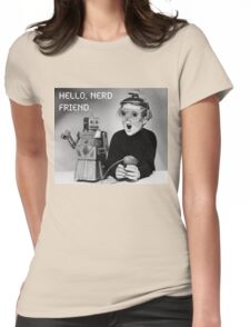 Friendly Robot and Nerd Womens Fitted T-Shirt