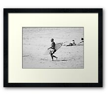 Kelly Slater in black & white Framed Print