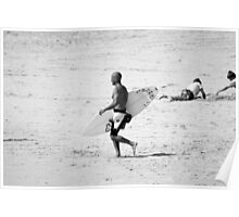 Kelly Slater in black & white Poster