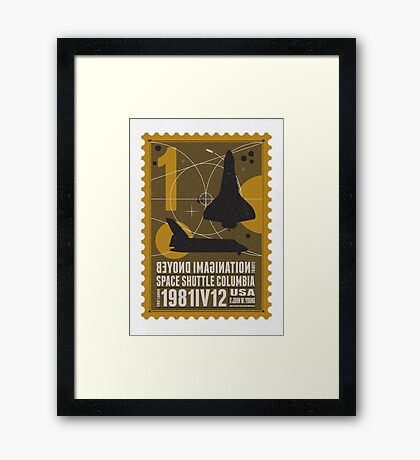 Starship 01 poststamp - Spaceshuttle  Framed Print