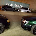 Starlet, Skyline GT-R, Evo VII and Stagea by GoldZilla