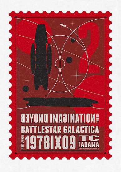 Starship 02 poststamp - Battlestar Galactica  by Chungkong