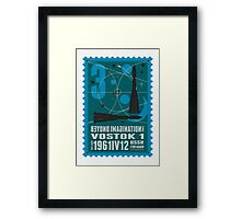 Starship 03 - poststamp - Vostok Framed Print