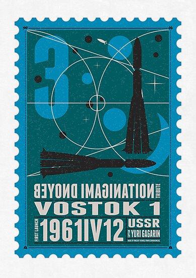 Starship 03 - poststamp - Vostok by Chungkong