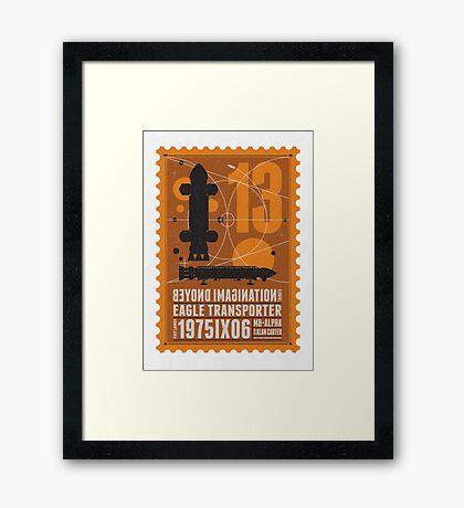 Starship 13 - poststamp - Space1999  Framed Print