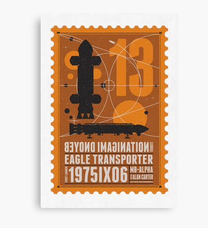 Starship 13 - poststamp - Space1999  Canvas Print