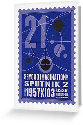 Starship 21 - poststamp - Sputnik2 by Chungkong