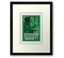 Starship 34 - poststamp - USS Enterprise  Framed Print