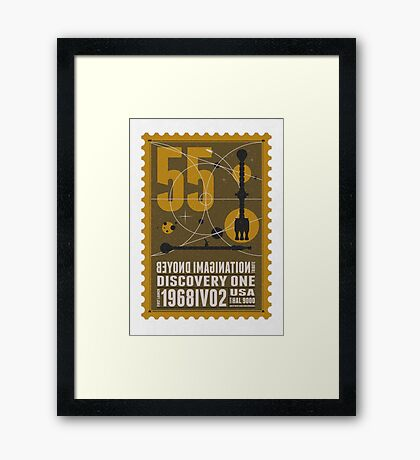 Starship 55 - poststamp - DicoveryOne  Framed Print
