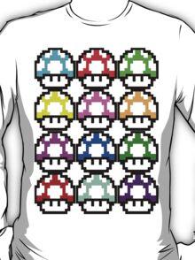 Multi-coloured Mushrooms T-Shirt
