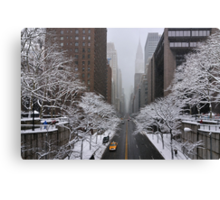New York - Yellow cab on the 42nd street Canvas Print