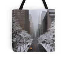 New York - Yellow cab on the 42nd street Tote Bag