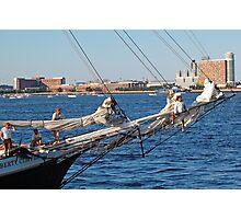 Sailing in Boston Harbor  Photographic Print