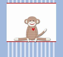 Blue Stripe Sock Monkey Case by JessDesigns