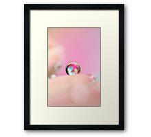 Pastel Drop Framed Print