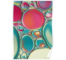 Retro Coloured Oil & Water Drops Poster
