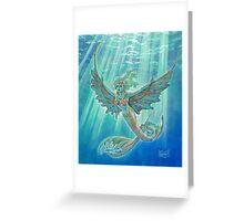 Winged Mermaid Greeting Card