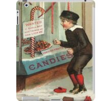 Wanted - A Boy To Lick Christmas Candy Cane iPad Case/Skin