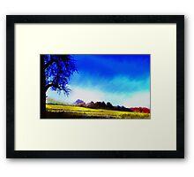 blu Tree Framed Print