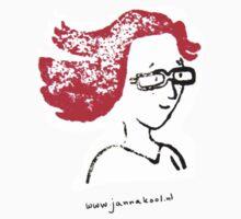 Redheaded illustrator by JannaKool