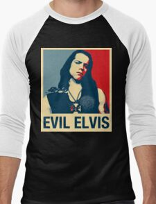 Evil Elvis Men's Baseball ¾ T-Shirt