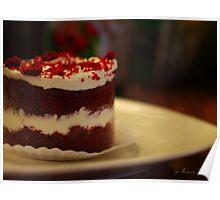 red velvet cake Poster
