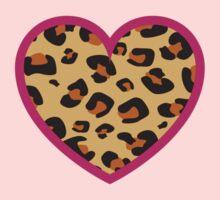 Leopard Heart Baby Tee