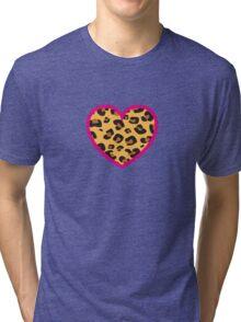 Leopard Heart Tri-blend T-Shirt