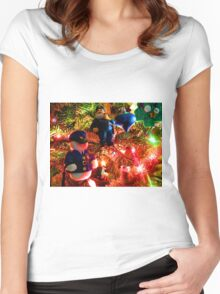 Officers Christmas I Women's Fitted Scoop T-Shirt