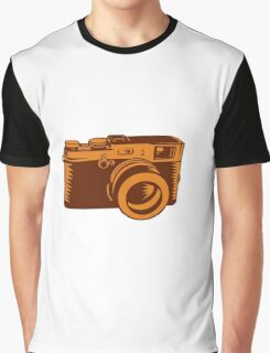 Camera 35mm Vintage Woodcut Graphic T-Shirt