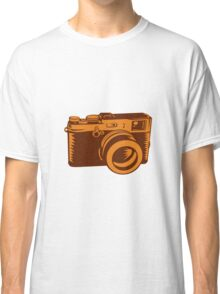 Camera 35mm Vintage Woodcut Classic T-Shirt