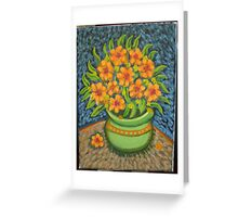 my vincent flowers Greeting Card