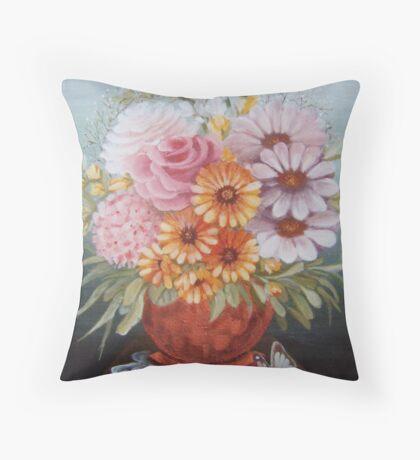 Copper vase Throw Pillow
