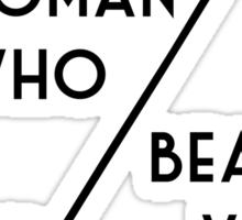 The woman who beat Sherlock Holmes Sticker